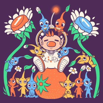 Friendly Alien Flora - Pikmin Shirt design by SarahRichford