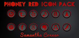 Phoney Red Icons/Theme by sammyycakess