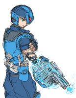 Super Fighting Soldier Megaman by bulletproofturtleman