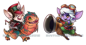 Yordle Chibi Charms by RinTheYordle