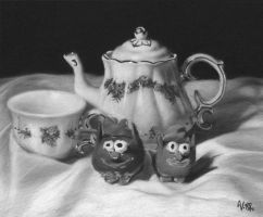 A Teapot Study With Friends by VictoriaSteel