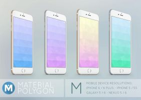MOBILE : Material Design Polygon Wallpaper Pack by polygn