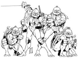 TMNT - 2003 work by channandeller