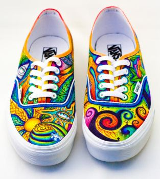 Trippy shoes by Jboogieman