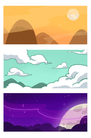Landscapes for a School Poject by RomyvdHel-Art
