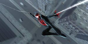 The Ultimate Spider-man - Swinging In by comicbooger