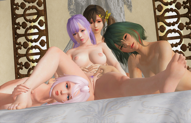 DOA: 'Uhm, girls? I-I'm not sure about this...' by DarkOverlord1296