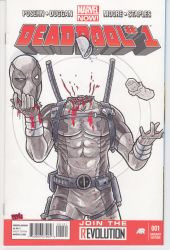 Deadpool #1 Sketch Cover - Head Juggle by Alexander463