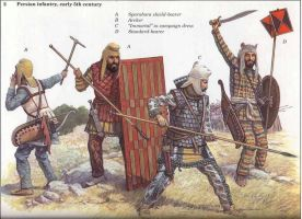 persian warriors by byzantinum