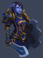 Draenei Commission by lowly-owly