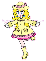 Peach's Raincoat by IceCreamLink