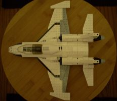 LEGO Fighter Jet Top View by NihonFreakMB