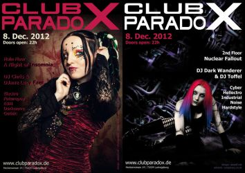 Flyer: Paradox DEC 2012 by AeWolf