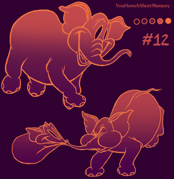 Palette Challenge #12 of 18 - Pink Elephants by YouHaveAShortMemory