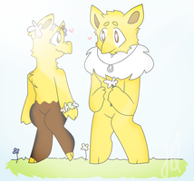 Hypno and Drowzee Fluff by TheCatQueen10