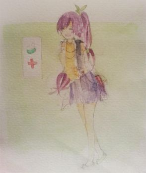 quick water color -- midori by CL-chan