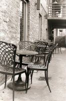 Coffee Underground chairs by alittlemessi