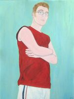 Self Portrait With A Red Shirt by GMAC06