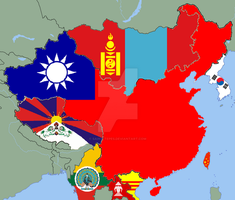 East Asia if China was a capitalist democracy by Saint-Tepes