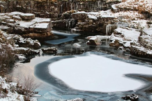 Ice on the pond by MaresaSinclair
