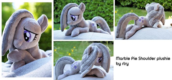 Marble Pie shoulder plushie by rtry