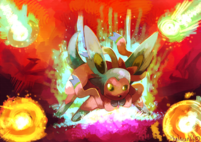 Shiny Sylveon And the Meteor of Dragons by Phatmon