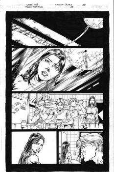 Teen Titans 83 pg 10 Inks by Mariah-Benes