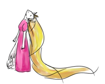 Rapunzel's hair must've weighed a lot by Silent-Arpeggio
