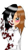 Good VS Evil  : Jeff The Killer (Girl) by AyanoThePanda