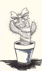 Inktober2018 Day 25: Prickly by HorseCookies