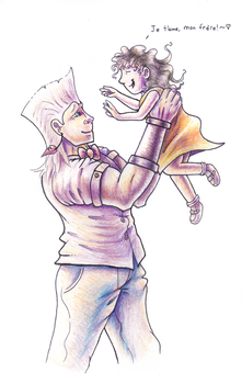 Polnareff and Sherry by Pickledsuicune