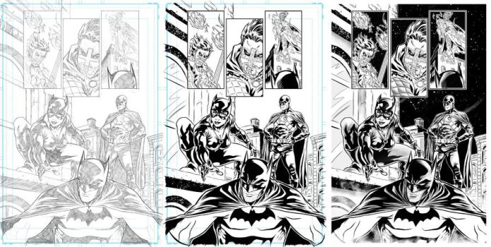 page Batman by puste