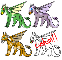 Lil Coin Dragon Adopts! [1/3 OPEN] by dontmineit