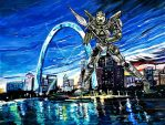 My hometown St Louis and my friend the Jaeger by Greenminerthescoffer