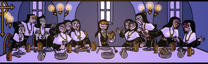 Sister Claire's Last Supper by Yamino