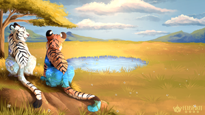 Big Cat Sanctuary - Gift for Aesaii by Felispirit