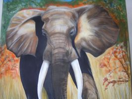 african bull elephant by tommythepainter