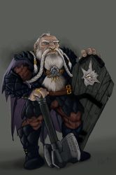Dwarf Tempest Cleric by lordsenneian