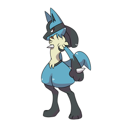 favorite fighting type - Lucario by shoelazy