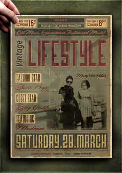 Vintage Poster Template by TheCreativeCatDesign