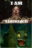 Ed the hyena laugh at Taserface by MrDimensionIncognito