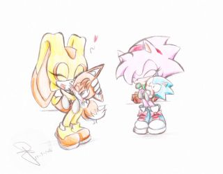 SonAmy and Taiream Mini Classic by Idolnya by Lawman09