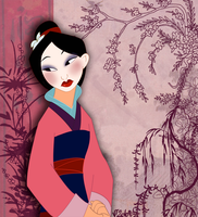 MULAN COLORED by VPdessin