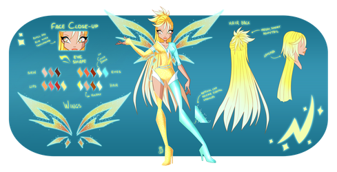 The 7: Pria, Fairy of Electricity by Gerganafen