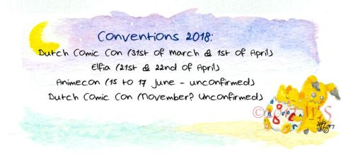 2018 Conventions by kittyocean