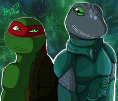 Raphael and Mona by Mysterious-D