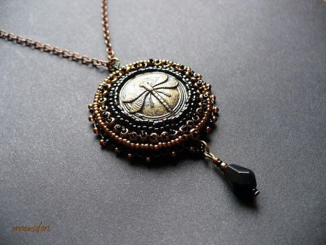 Dragonfly pendant by moonsafaribeads
