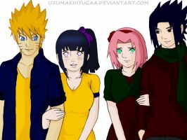 Naruhina-Sasusaku Double date by Okky-RightBrain