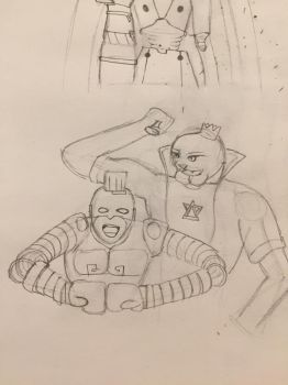 Max Brass and Panther King flexing REQ by icarue