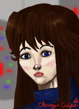 Blue Green Whaterver you want to call her-Portrait by Cherry-Crape